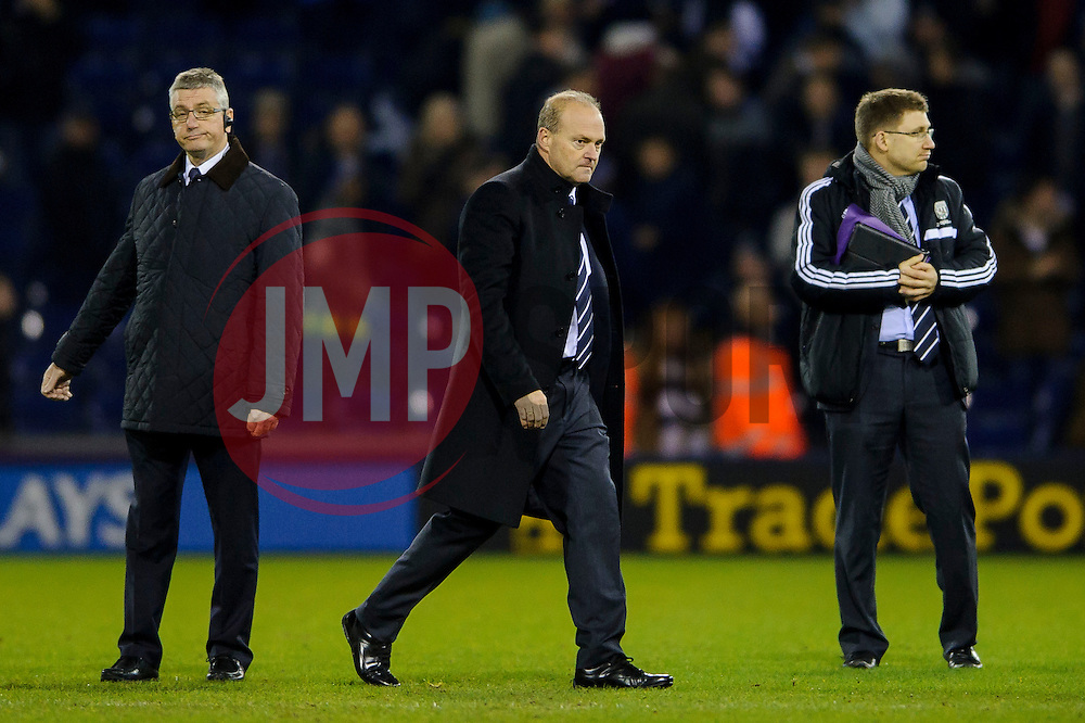 New West Brom Manager Pepe Mel leaves the pitch as the game ends in a 1-1 draw - Photo mandatory by-line: Rogan Thomson/JMP - Tel: Mobile: 07966 386802 - 20/01/2014 - SPORT - FOOTBALL - The Hawthorns Stadium - West Bromwich Albion v Everton - Barclays Premier League.