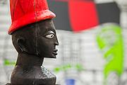 Engungun by Pascal Setonji in the Jack Bell Gallery. London Art Fair opens at the Business Design Centre, Islington, London.