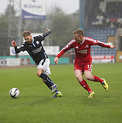 Dundee's Martin Boyle and Aberdeen's Aberdeen&rsquo;s Jonathan Hayes -  Dundee v Aberdeen, William Hill Scottish FA Cup 4th round at Dens Park<br /> <br />  - &copy; David Young - www.davidyoungphoto.co.uk - email: davidyoungphoto@gmail.com