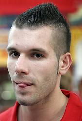 Sani Becirovic at press conference of Slovenian basketball National Team before departure to European Championships Belgrade 2005, on September 13, 2005, City park, BTC, Ljubljana, Slovenia.  (Photo by Vid Ponikvar / Sportida)
