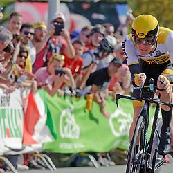 06-05-2016: Wielrennen: Giro: Apeldoorn: Individuele tijdrit: Proloog<br /> Steven Kruijswijk (tem Lotto Jumbo)