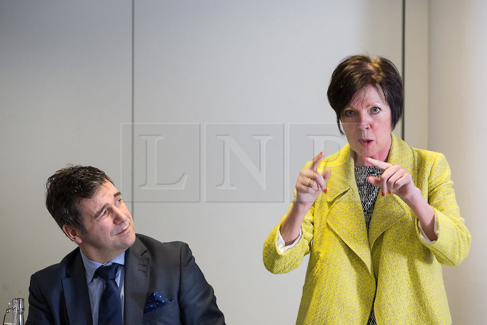 © Licensed to London News Pictures . 05/02/2016 . Manchester , UK . JUERGEN MAIER , CEO of Siemens and THERESA GRIFFIN MEP . Labour in for Britain pro-EU campaign event at the Siemens technology campus in South Manchester . Photo credit : Joel Goodman/LNP