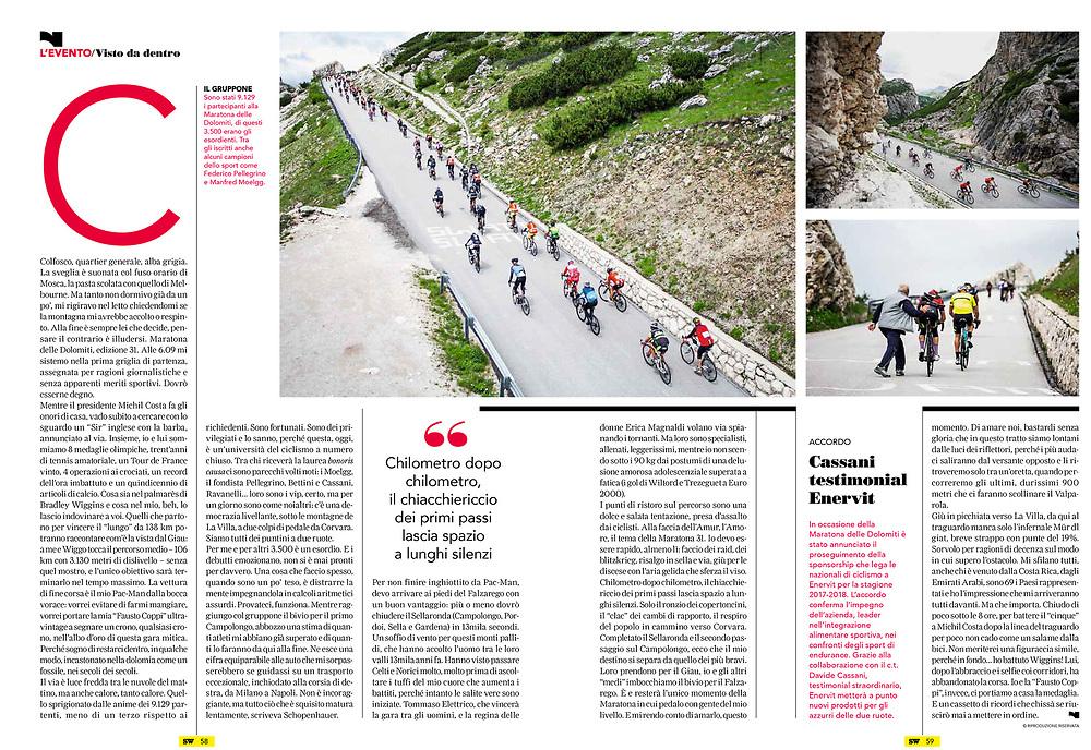 Maratone Dles Dolomites on Sportweek - RCS- pag02
