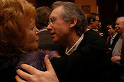 Edna O'Brien and  Ian McEwan. Book party for Saturday by Ian McEwan, Polish Club, South Kensington.  4 February 2005. ONE TIME USE ONLY - DO NOT ARCHIVE  © Copyright Photograph by Dafydd Jones 66 Stockwell Park Rd. London SW9 0DA Tel 020 7733 0108 www.dafjones.com