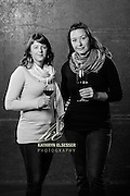 Elizabeth Bourcier, assistant wine maker and Cecile of Cayse Vineyards