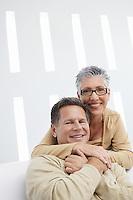 Affectionate couple at home portrait