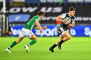 Luke Morgan of Ospreys in action during todays match<br /> <br /> Photographer Craig Thomas/Replay Images<br /> <br /> Guinness PRO14 Round 4 - Ospreys v Benetton Treviso - Saturday 22nd September 2018 - Liberty Stadium - Swansea<br /> <br /> World Copyright &copy; Replay Images . All rights reserved. info@replayimages.co.uk - http://replayimages.co.uk