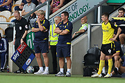 Burton Albion manager Nigel Clough watches on during the EFL Sky Bet League 1 match between Burton Albion and Ipswich Town at the Pirelli Stadium, Burton upon Trent, England on 3 August 2019.