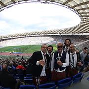 Roma 11/02/2017 Stadio Olimpico<br /> RBS 6 nations 2017<br /> Italia vs Irlanda<br /> panoramica dello stadio con tifosi