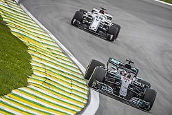 November 9, 2018 - Sao Paulo, Brazil - 44 HAMILTON Lewis (gbr), Mercedes W09 Hybrid EQ Power+ team Mercedes GP, action during the 2018 Formula One World Championship, Brazil Grand Prix from November 08 to 11 in Sao Paulo, Brazil -  FIA Formula One World Championship 2018, Grand Prix of Brazil World Championship;2018;Grand Prix;Brazil  (Credit Image: © Hoch Zwei via ZUMA Wire)