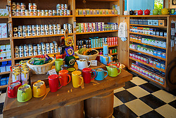 United States, Washington, Whidbey Island, Langley, store interior