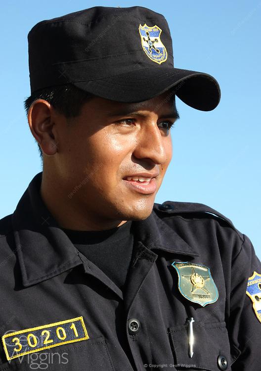 El Salvadorian police officer, Santa Ana, El Salvador