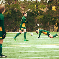 5th year Forward, Brianna Wright (7) of the Regina Cougars ]during the Women's Soccer home game on Sun Sep 23 at U of R Field. Credit: Arthur Ward/Arthur Images