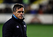 Head Coach Allan Clarke of Ospreys during the pre match warm up<br /> <br /> Photographer Simon King/Replay Images<br /> <br /> Guinness PRO14 Round 7 - Ospreys v Connacht - Friday 26th October 2018 - The Brewery Field - Bridgend<br /> <br /> World Copyright &copy; Replay Images . All rights reserved. info@replayimages.co.uk - http://replayimages.co.uk