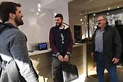 Ariel Filloy, Antonio Iannuzzi, Romeo Meo Sacchetti<br /> Nazionale Italiana Maschile Senior - Arrivo al Ritiro di Torino<br /> FIP 2017<br /> Torino, 20/11/2017<br /> Foto M.Ceretti / Ciamillo-Castoria