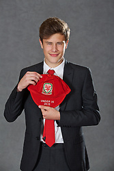NEWPORT, WALES - Saturday, May 21, 2016: Sam Bowen at the Under-16's cap presentation at the Celtic Manor Resort. (Pic by David Rawcliffe/Propaganda)
