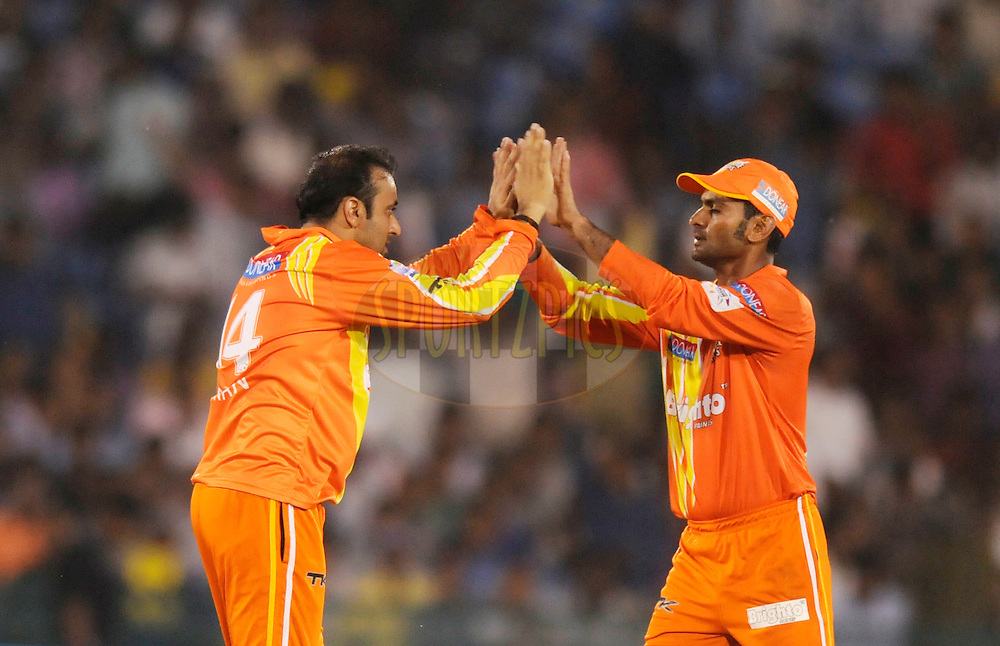 Adnan Rasool of Lahore Lions celebrates the wicket of Jehan Mubarak captain of Southern Express during the qualifier 5 match of the Oppo Champions League Twenty20 between the Southern Express and the Lahore Lions held at the Chhattisgarh International Cricket Stadium, Raipur, India on the 16th September 2014<br /> <br /> Photo by:  Pal Pillai / Sportzpics/ CLT20<br /> <br /> <br /> Image use is subject to the terms and conditions as laid out by the BCCI/ CLT20.  The terms and conditions can be downloaded here:<br /> <br /> http://sportzpics.photoshelter.com/gallery/CLT20-Image-Terms-and-Conditions-2014/G0000IfNJn535VPU/C0000QhhKadWcjYs