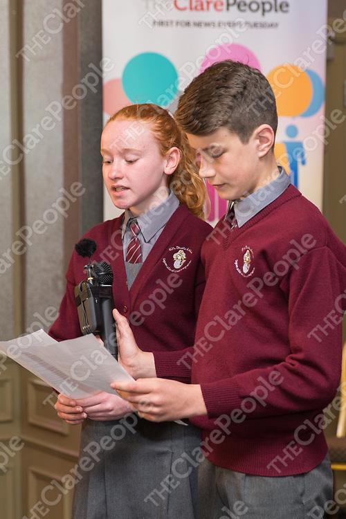 Eimear Felin and  Darragh Moylan from Ballyea NS