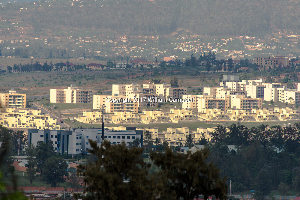KIGALI, RWANDA-OCT 16:  New apartments and houses in the Kimihurura section of Kigali, the capital of Rwanda.  Since the 1994 genocide that killed at least 800,000 Rwanda has experienced unprecedented development with a major building boom in the capital. (Photo by William Campbell-Corbis via Getty Images)