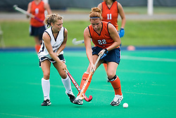 Virginia Cavaliers M/B Sara Confer (22)..The #10 ranked Virginia Cavaliers fell to the #7 ranked Penn State Nittany Lions 3-1 at the University Hall Turf Field in Charlottesville, VA on August 26, 2007.