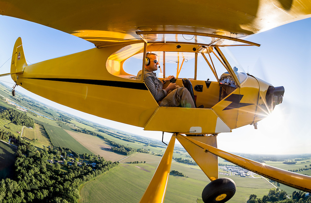 Jun. 13, 2014; Flying a 1946 Piper Cub near Glenndale (8I3).<br /> <br /> Photo by Matt Cashore