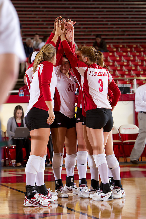 University of Arkansas Razorback Women's Volleyball team action photography in Fayetteville, Arkansas during the 2010-2011 season.