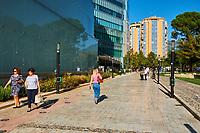 Albanie, Tirana, Rruga Abdi Toptani // Albania, Tirana, Abdi Toptani street