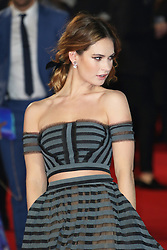 Lily James, Pride And Prejudice And Zombies - European Film Premiere,  Leicester Square, London UK, 1 February 2016, Photo by Richard Goldschmidt /LNP © London News Pictures