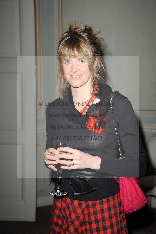 CATHERINE FITZGERALD at a party to celebrate Penguin's reissue of Nancy Mitford's 'Wigs on The Green' hosted by Tatler at Claridge's, Brook Street, London on 10th March 2010.