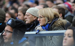An Everton fan looks on in suspense - Photo mandatory by-line: Dougie Allward/JMP - Tel: Mobile: 07966 386802 23/11/2013 - SPORT - Football - Liverpool - Merseyside derby - Goodison Park - Everton v Liverpool - Barclays Premier League