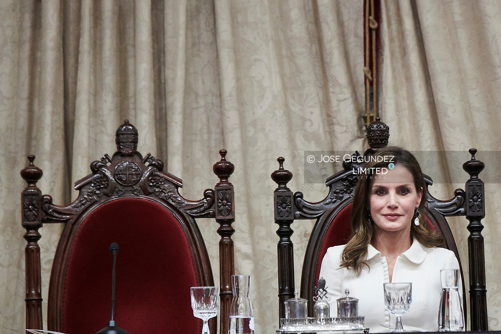 Queen Letizia of Spain Attend the Opening of the scholar College year at Salamanca University on September 14, 2017 in Salamanca, Spain