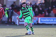 Forest Green Rovers Chris Clements(22) passes the ball during the EFL Sky Bet League 2 match between Accrington Stanley and Forest Green Rovers at the Wham Stadium, Accrington, England on 17 March 2018. Picture by Shane Healey.