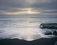 Surf at sunset, Olympic National Park Washington
