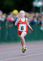 20 Aug 2016:  Grainne Moran, Louth, in the Girls U10 100m heats.   2016 Community Games National Festival.  Athlone Institute of Technology, Athlone, Co. Westmeath. Picture: Caroline Quinn