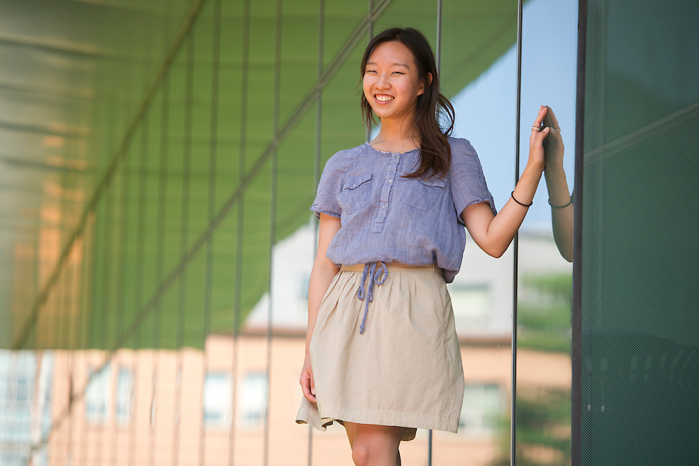 August 13, 2012 - Kyu Won Kim, BPH'15, works at the Northeastern Culture and Language Learning Center, which schedules 50 free, student-run and taught classes in 17 languages and at four different levels.
