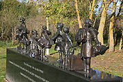 The British Evacuees Memorial at the National Memorial Arboretum, Croxall Road, Alrewas, Burton-On-Trent,  Staffordshire, on 29 October 2018. Picture by Mick Haynes.