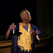 "Carlyle Brown performs his one-man show ""The Fula from America: An African Journey"" at The Music Hall in Portsmouth, NH, in support of the African Burying Groung Memorial."