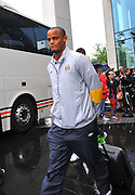 06.MAY.2011. LIVERPOOL<br /> <br /> VINCENT KOMPANY LEAVING THE HILTON HOTEL FOR THE PREMIERSHIP MATCH BETWEEN EVERTON AND MANCHESTER CITY AT GOODISON PARK IN LIVERPOOL, UK.<br /> <br /> BYLINE: EDBIMAGEARCHIVE.COM<br /> <br /> *THIS IMAGE IS STRICTLY FOR UK NEWSPAPERS AND MAGAZINES ONLY*<br /> *FOR WORLD WIDE SALES AND WEB USE PLEASE CONTACT EDBIMAGEARCHIVE - 0208 954 5968*