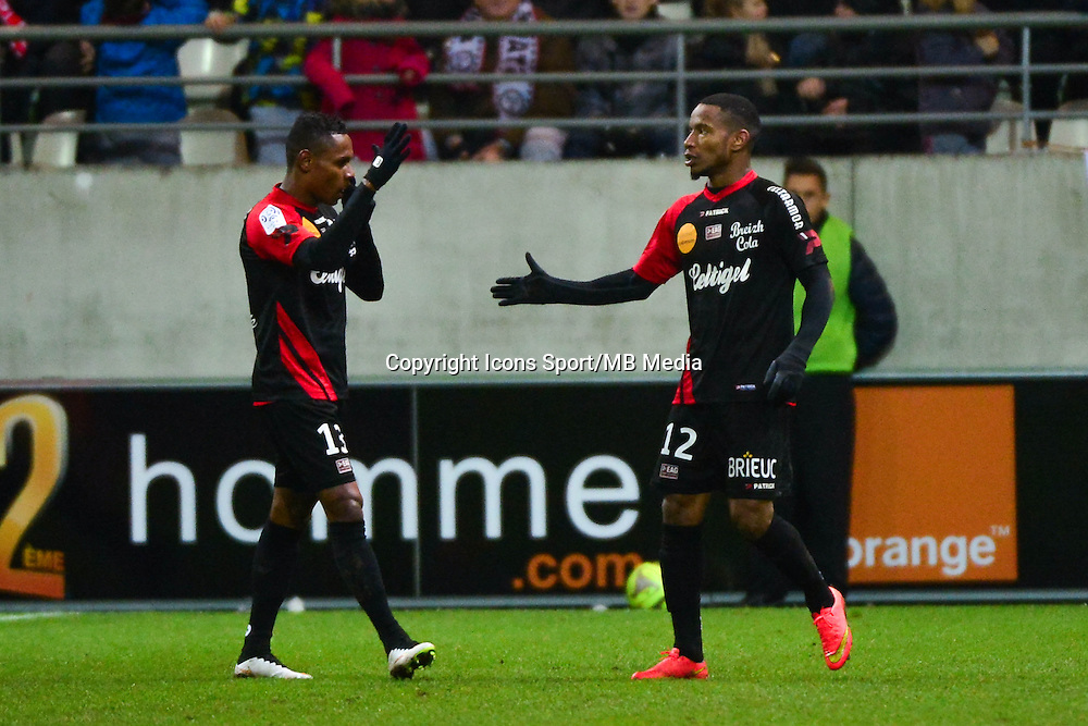 Joie Claudio BEAUVUE - 07.12.2014 - Reims / Guingamp - 17eme journee de Ligue 1 -<br />