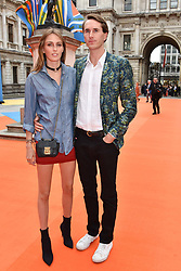 Lady Alice manners and Otis Ferry at the Royal Academy of Arts Summer Exhibition Preview Party 2017, Burlington House, London England. 7 June 2017.