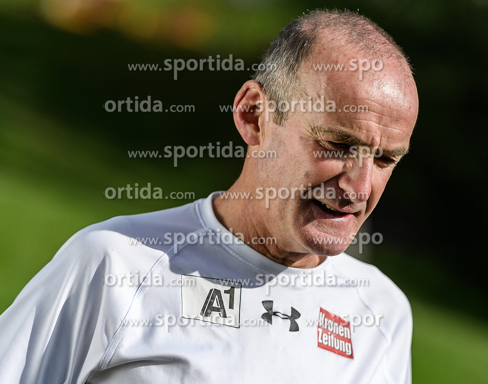 06.06.2017, Bio Hotel Stanglwirt, Going, AUT, OeSV Training, Herren Speed Team, Pressetermin, Training, im Bild Andreas Puelacher (Cheftrainer Herren) // Andreas Puelacher head coach men during a Trainingsession of men's speed Ski Team of Austrian Ski Federation (OeSV) at the Bio Hotel Stanglwirt in Going, Austria on 2017/06/06. EXPA Pictures © 2017, PhotoCredit: EXPA/ Stefan Adelsberger