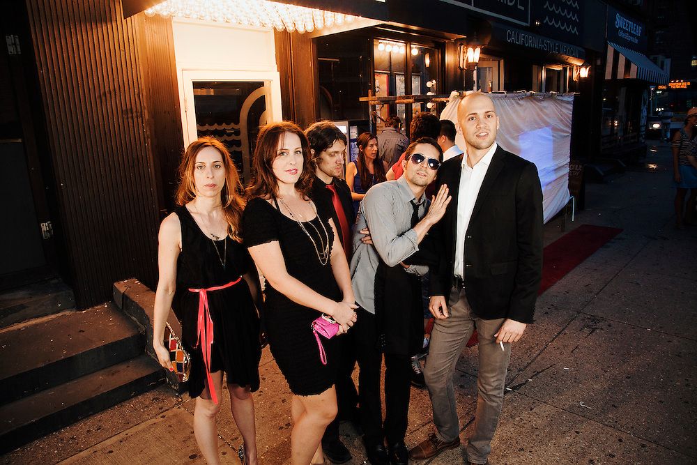Erin Lennox, Peggy O'Leary, Eli Sairs, Chesley Calloway and Jeff Wesselschmidt - The Creek Awards & One Year in New York Comedy photo opening & The Creek and The Cave 10 Year Anniversary party - August 25, 2012 - Long Island City, New York