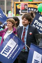 © Licensed to London News Pictures. 05/07/2016. Birmingham, UK. Striking teachers protesting in Victoria Square Birmingham.  Photo credit: Dave Warren/LNP