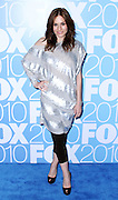 Kara DioGuardi poses at the Fox 2010 Upfronts after-party at Wollman Rink in New York City on May 17, 2010...
