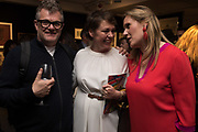 JONATHAN HARVEY, OLIVIA COLEMAN, CAROLIN VON MASSENBACH, Preview evening  in support of The Eve Appeal, a charity dedicated to protecting women from gynaecological cancers. Bonhams Knightsbridge, Montpelier St. London. 29 April 2019