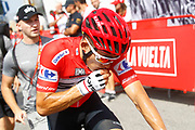 Michal Kwiatkowski (POL - Team Sky) red jersey, during the UCI World Tour, Tour of Spain (Vuelta) 2018, Stage 5, Granada - Roquetas de Mar 188,7 km in Spain, on August 29th, 2018 - Photo Luca Bettini / BettiniPhoto / ProSportsImages / DPPI