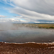 Hot Springs at Haukadalur geothermal area in Iceland
