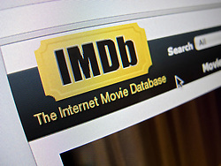 Detail of IMDB Internet Movie Database website homepage screen shot