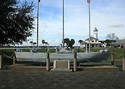 City of Brunswick Navy Destroyer model in the commons of Brunswick Port.