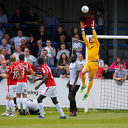 AUGUST 12:  Dover Athletic against Wrexham in Conference Premier at Crabble Stadium in Dover, England. Dover's keeper Mitch Walker rises to collect a Wrexham cross. (Photo by Matt Bristow/mattbristow.net)